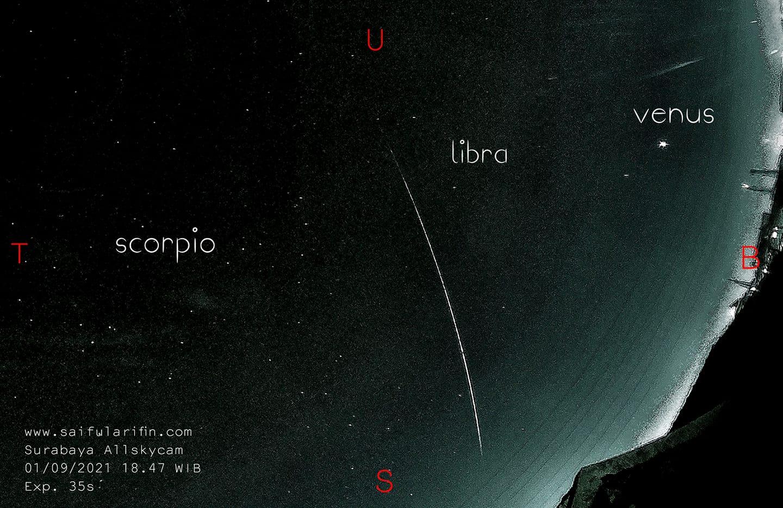 cara menghitung lokasi meteor